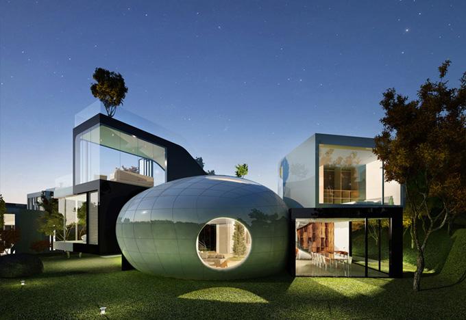 Cocoon house — это корейский проект от planning