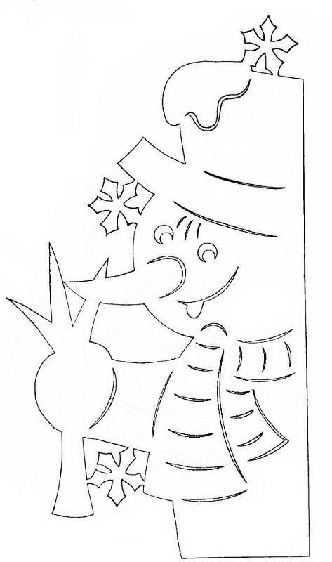 украшения из бумаги на новый год трафареты