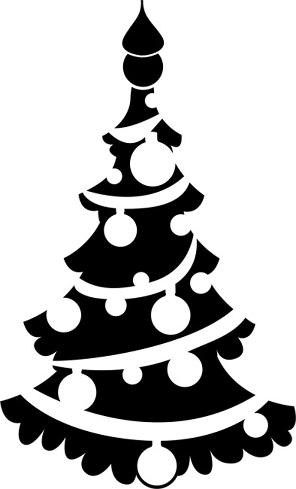 новогодний трафарет елка