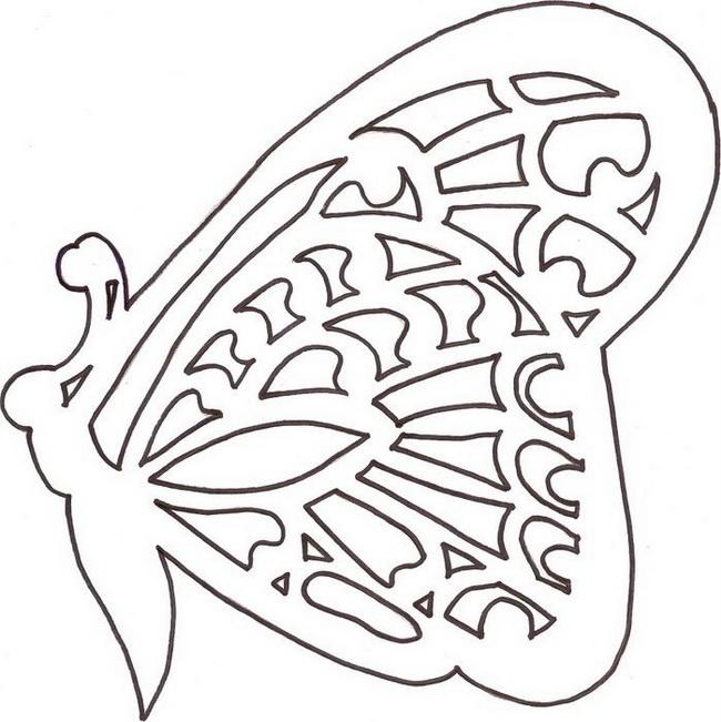 вытынанки на 8 марта шаблоны бабочек