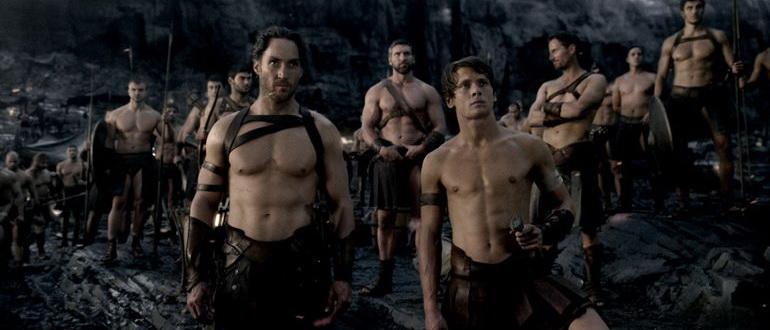 сцена из фильма 300 спартанцев: Расцвет империи (2014)