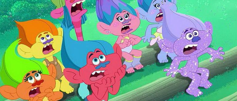 персонажи из мультфильма Тролли: Праздник продолжается (2018)