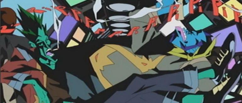 сцена из аниме Мертвые листья: Звездная тюряга (2004)