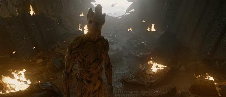 сцена из фильма Стражи Галактики (2014)