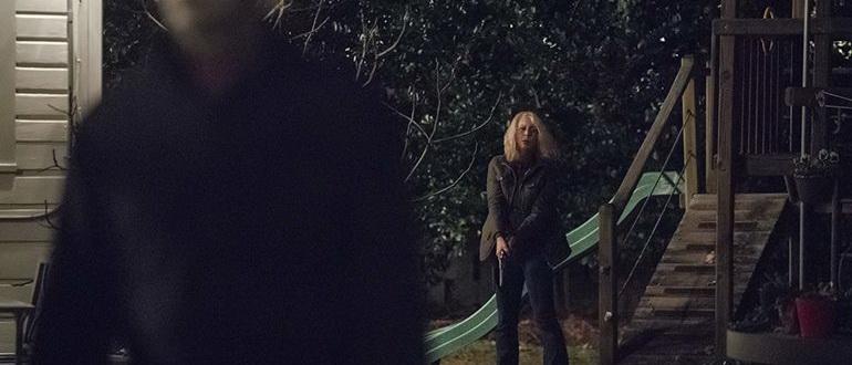 кадр из фильма Хэллоуин (2018)