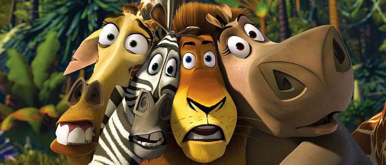 кадр из мультика Мадагаскар (2005)