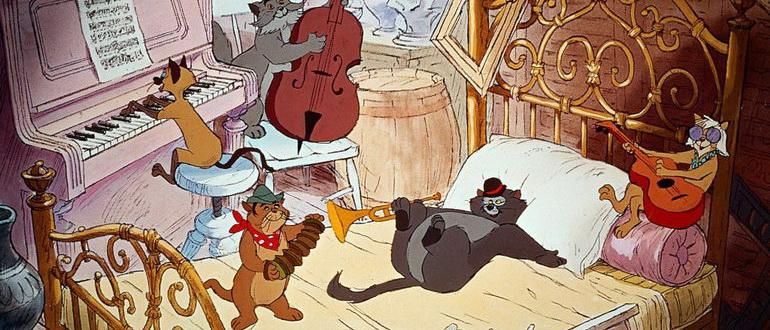 персонажи из мультика Коты аристократы (1970)