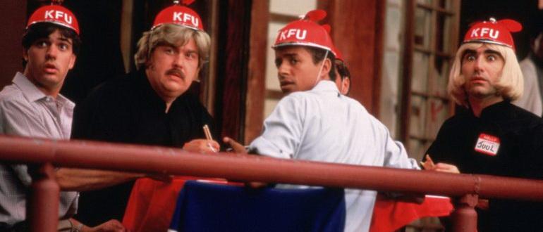 сцена из фильма Слетая с катушек (1983)