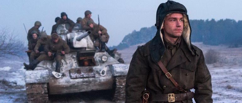 сцена из фильма Т-34 (2018)