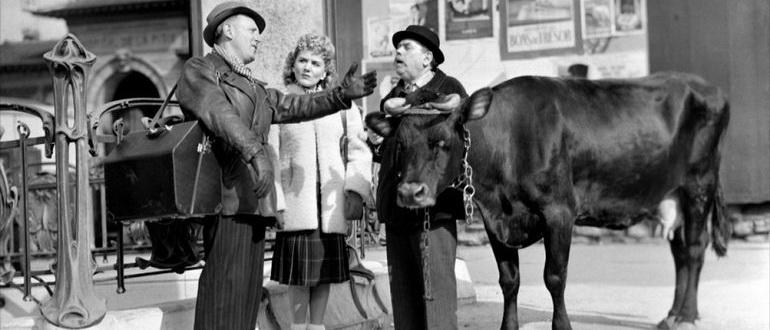 сцена из фильма Через Париж (1956)