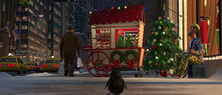 кадр из фильма Пингвины из Мадагаскара в Рождественских приключениях (2005)