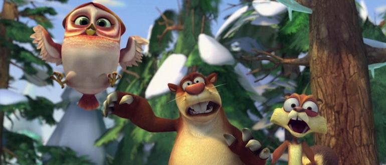 сцена из фильма Медведи-соседи: Зимние каникулы (2015)