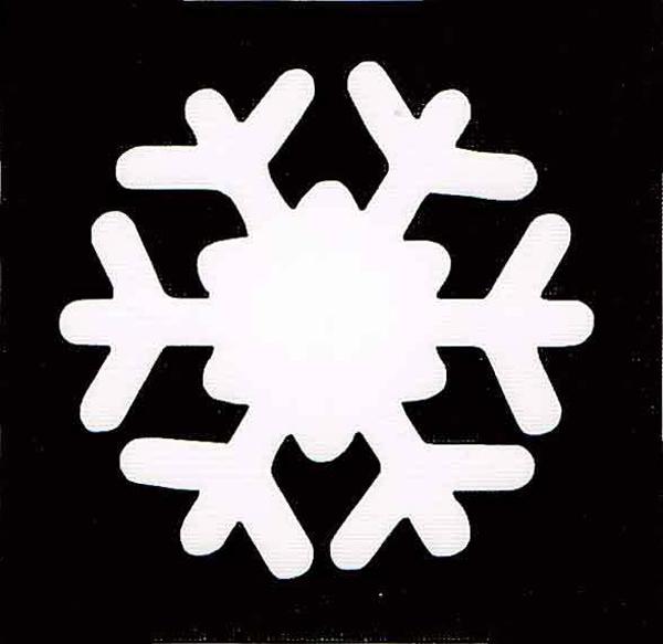 трафарет снежинок на новый год