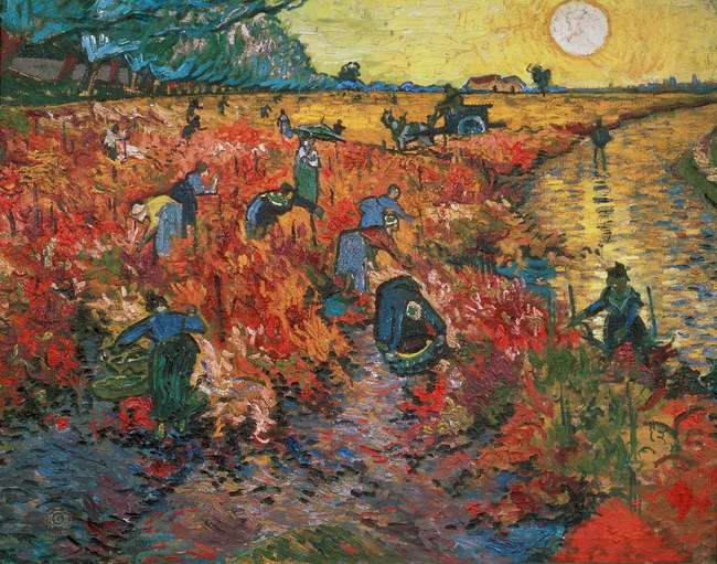 Винсент Ван Гог: Красные виноградники в Арле (1888)