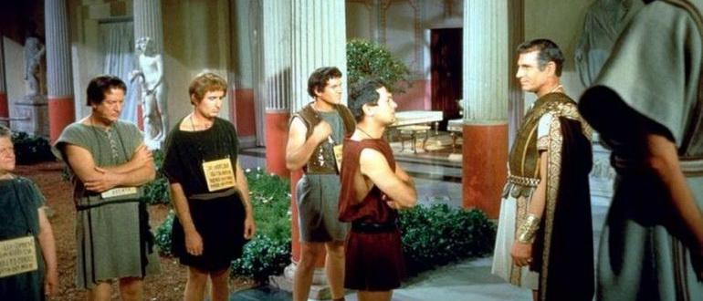 сцена из фильма Спартак (1960)