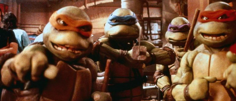 кадр из фильма Черепашки-ниндзя (1990)