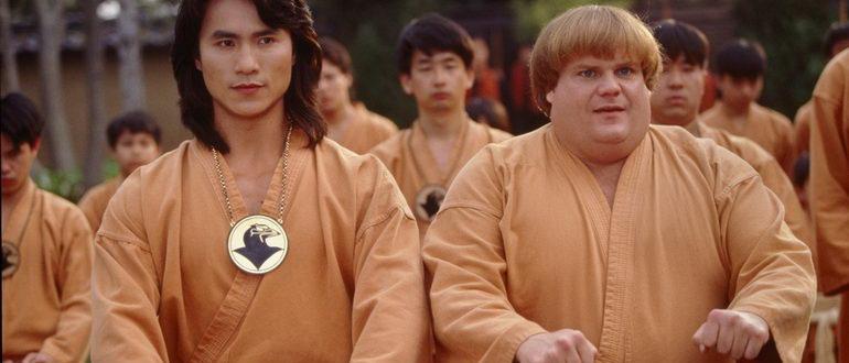 сцена из фильма Ниндзя из Беверли Хиллз (1997)