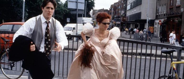 кадр из фильма Четыре свадьбы и одни похороны (1994)