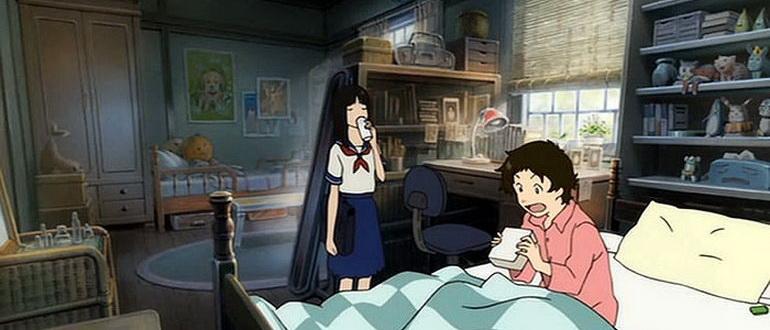 кадр из мультика Девочка, покорившая время (2006)