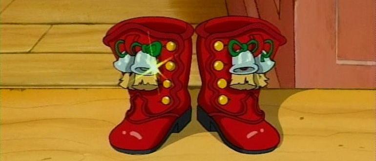 персонажи из фильма Красные сапожки на Рождество (1995)