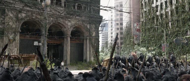 кадр из фильма Планета обезьян: революция (2014)